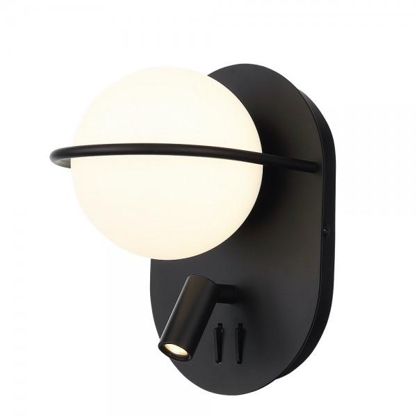Светильник настенный STURM Cigno, светодиодный L160P180H230 (LED 1*8W + 1*3W 4000K 467Lm), черный/белый, STL-CIG012040