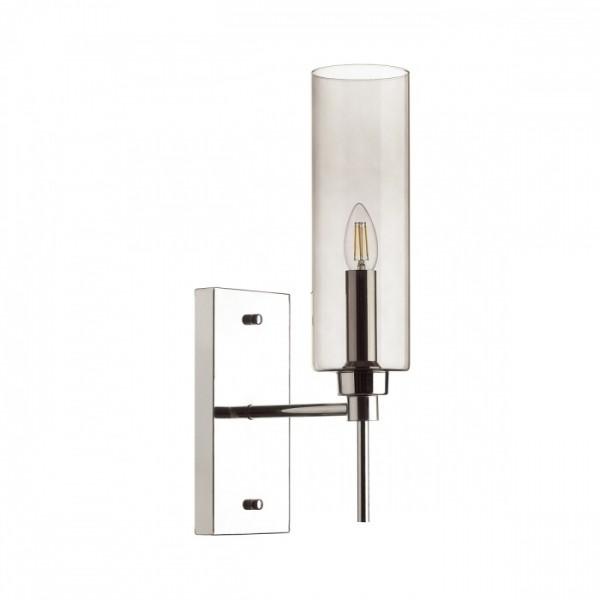 Светильник настенный STURM Fiato, 12x22x45,8 см, 1*E14 40W max, хром/дымчатый, STL-FIA104688