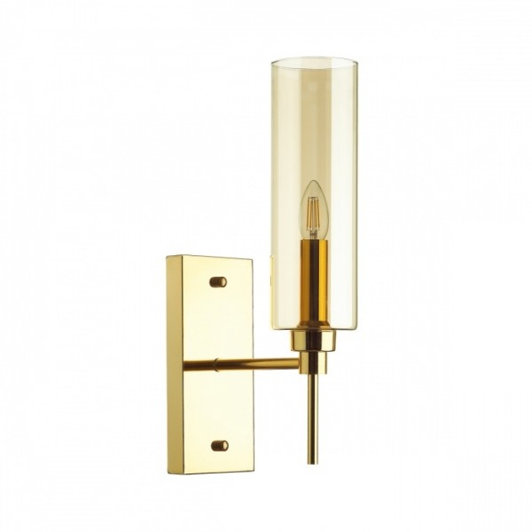 Светильник настенный STURM Fiato, 12x22x45,8 см, 1*E14 40W max, золото/янтарный, STL-FIA104689