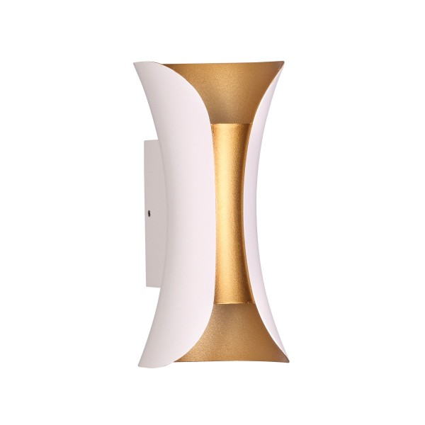 Светильник настенный STURM Flame, светодиодный L100P90H200 (LED 6W 4000K 350lm IP54), белый/золото, STL-FLA033887