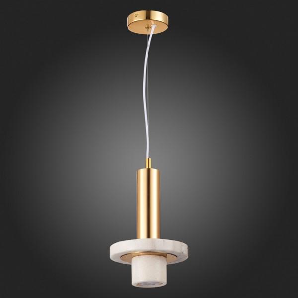 Светильник подвесной STURM Gres, 19х29/121 см, 1*G9 3W max, белый/золото, STL-GRE0418614