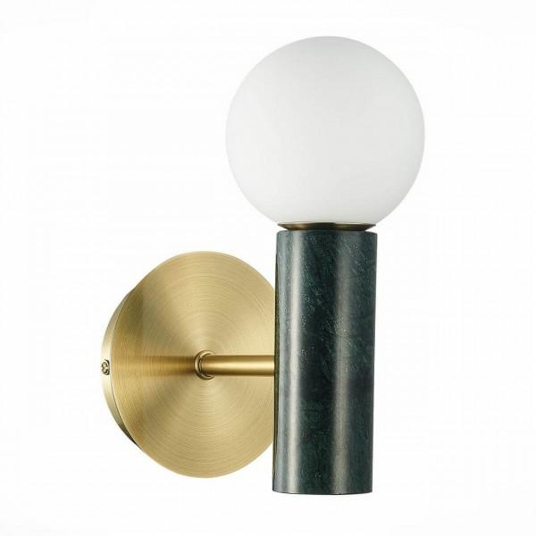 Светильник настенный STURM Gres, 12х20х23 см, металл/мрамор, 1*G9 3W max, черный/золото, STL-GRE064962