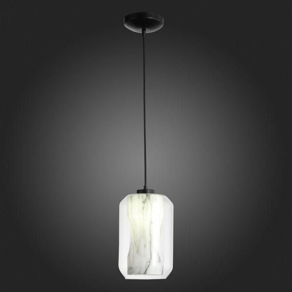 Светильник подвесной STURM Marble, 20х32/100 см, 1*E27 60W max, металл/акрил, латунь/белый, STL-MAR046452
