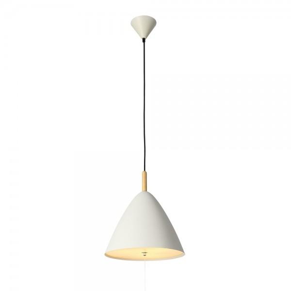 Светильник подвесной STURM Murphy, D330H1200 (1*E27 60W max), белый/дерево, STL-MUR012783