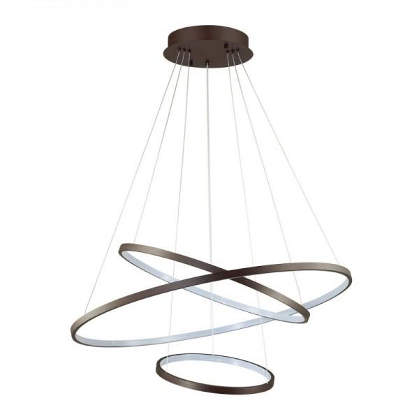 Светильник подвесной STURM Orbite, светодиодный D850H1200  (LED 114W 4000K 4539lm), коричневый, STL-ORB033964