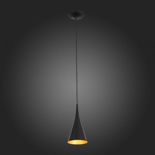 Светильник подвесной STURM Pitch, D140H1200 (1*40W E27 max), черный/золото, STL-PIT012871