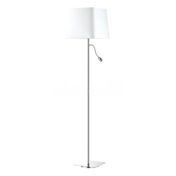 Торшер STURM Sanders, 37,5x158 см, 1*E27 60W +1*LED 3W max, хром/белый, STL-SAN063881
