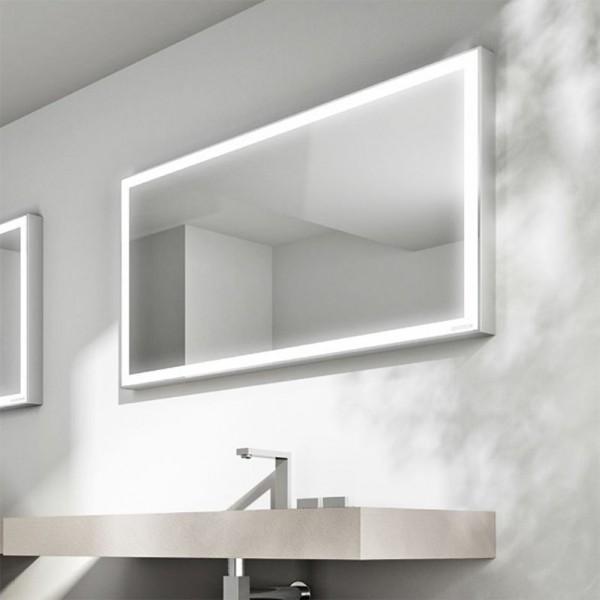 Зеркало STURM Specchiere 1250х600 мм с подсветкой по периметру (LED 24W/230V) - положение вертикально или горизонтально, полированная рамка ST-STL125