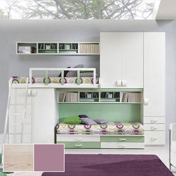 Комплект мебели для двух детей STURM Chip&Dale, 350х58/92х259, вяз-кварц, XCHDAL35026
