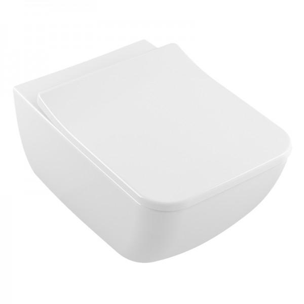 Унитаз подвесной STURM Touch безободковый с тонким сиденьем легкосъемным с микролифтом, белый/хром SV-TO29078R-CR