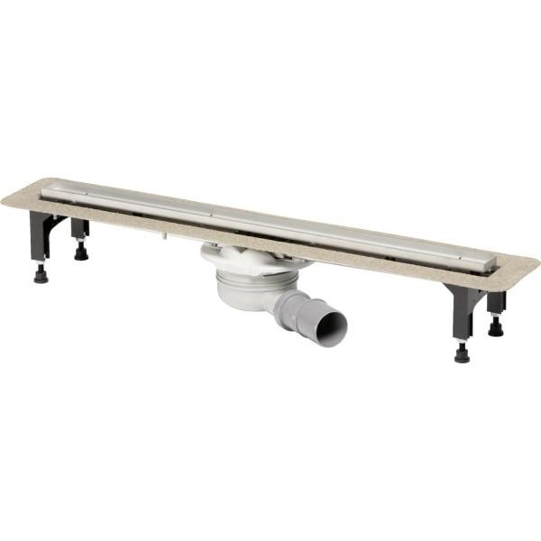 Комплект: Душевой лоток STURM SVG 1200 мм с решеткой для плитки, ножками и сифоном, нержавеющая сталь SVG-ADV50245-WF