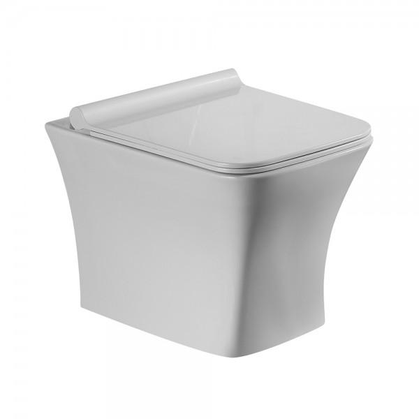 Унитаз подвесной STURM Belle 545x365x365 с сиденьем с микролифтом, белый/хром SW-BE36057-CR