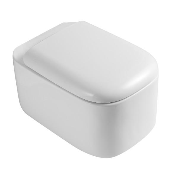 Унитаз подвесной STURM Bowl 540X370X360 с сиденьем с микролифтом, белый/хром SW-BO40057-CR