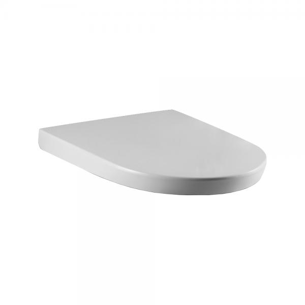 Сиденье STURM Daily легкосъемное с микролифтом, белое/хром SW-DA39053-CR