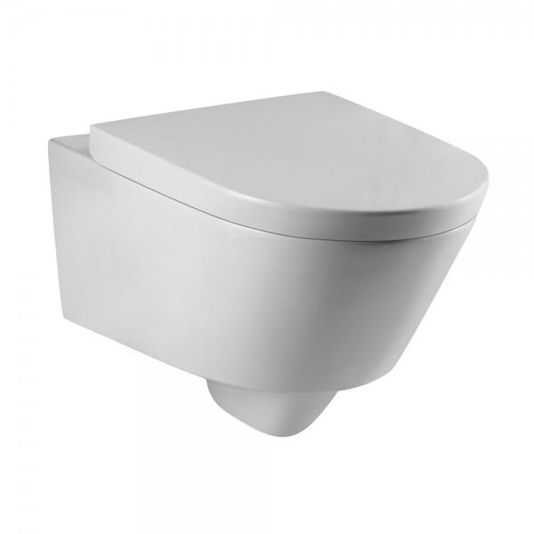 Унитаз подвесной STURM Daily 560x360x340 с сиденьем с микролифтом, белый/хром SW-DA39057-CR