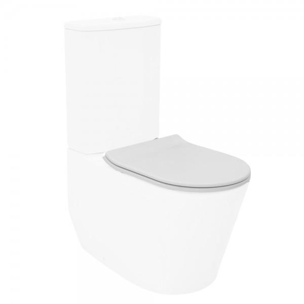Сиденье для унитаза STURM Mono тонкое легкосъемное с микролифтом, белое/хром SW-MO14053-CR