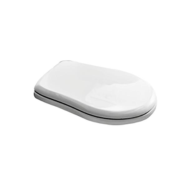 Сиденье для унитаза STURM Odetta с микролифтом, белое/хром SW-OD22053-CR