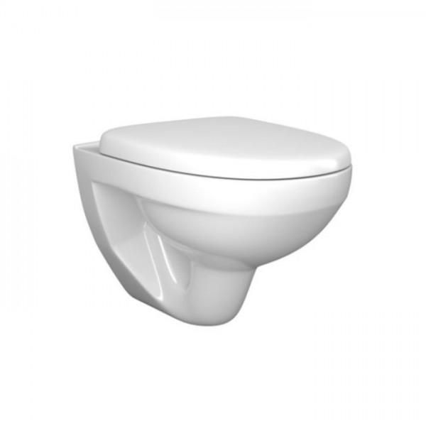 Унитаз подвесной Zero, 52х36х37,5см, сиденьем с микролифтом, белый/хром, ZWA17077-CR