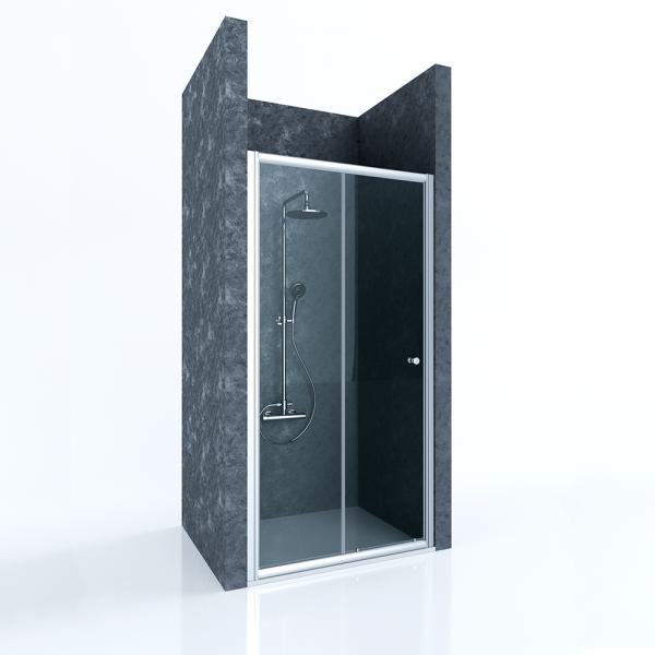 Душевая дверь в нишу STURM Viva 1200x1900 прозрачные стекла. Хром ST-VIVA12-NTRCR
