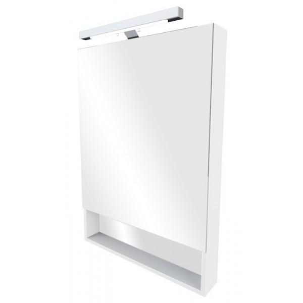 Зеркальный шкаф 80 Roca The Gap белый со светильником ZRU9302750