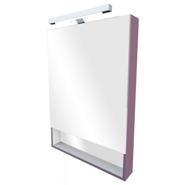 Зеркальный шкаф 80 Roca The Gap фиолетовый со светильником ZRU9302753